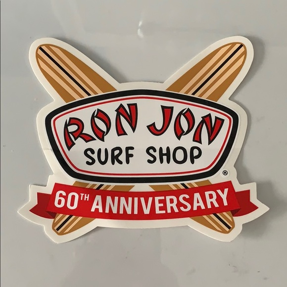 Ron Jon 60th Anniversary sticker